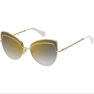 Marc Jacobs Cat Eye Metal Sunglasses